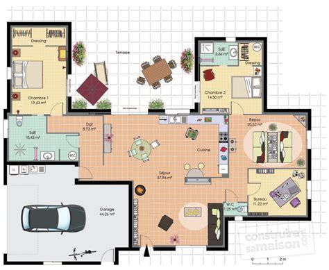 plan maison 6 chambres plain pied plan maison plain pied moderne 28 images maison de