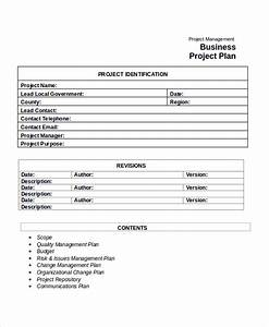 project business plan template project plan template 10 With project plan document template free