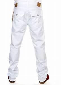 True Religion Men's Jeans Ricky Straight M58859NMU9 Optic ...