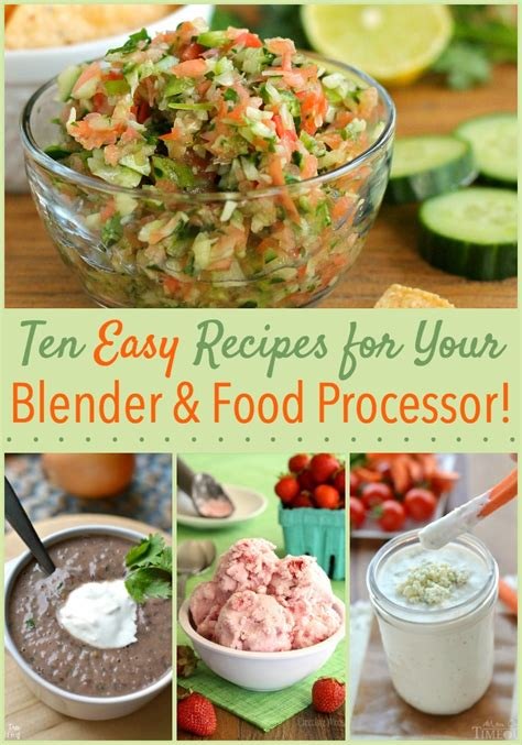 10 recipes made easy with your blender or food processor the weary chef