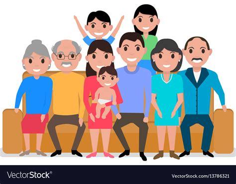 Family Sofa Black Family Taking Selfie On Sofa In Living