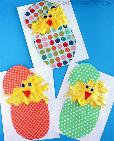 Hatching Puffy Paint Chicks (easter Craft)  Crafty Morning