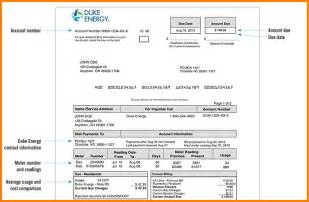 energy bill template simple bill