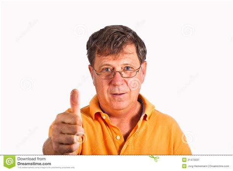 Attractive Man Giving Finger Sign Royalty Free Stock