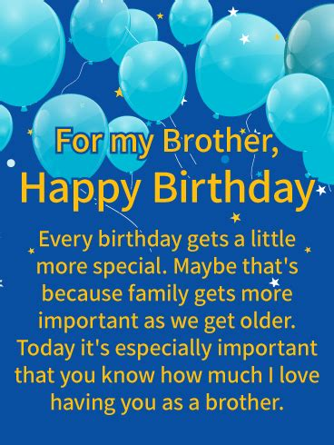 love   happy birthday wishes card  brother