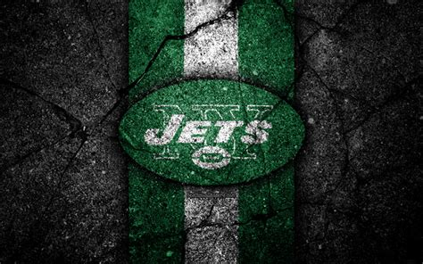 Download wallpapers 4k, New York Jets, logo, black stone ...