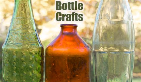 glass bottle crafts crafting  green world