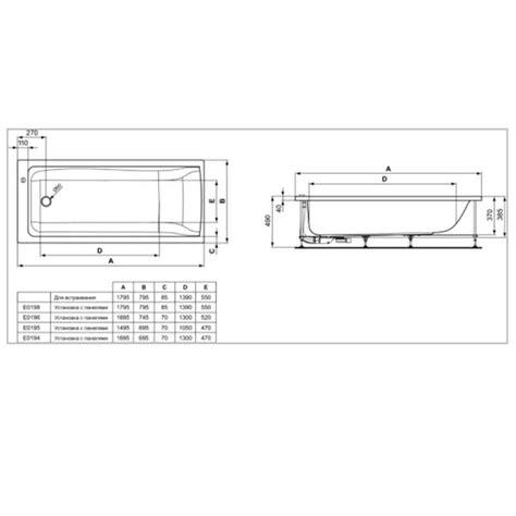Baignoire Connect 180 X 80 Cm En Acrylique  Idéal Standard