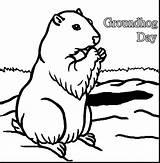Groundhog Coloring Getdrawings sketch template