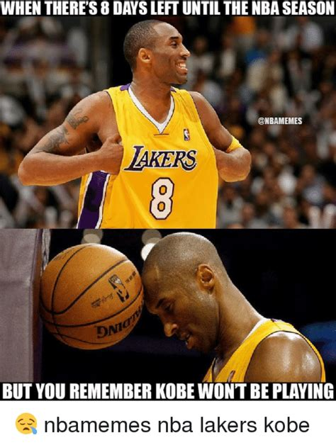 WHEN THERE'S 8 DAYS LEFT UNTIL THE NBA SEASON LAKERS BUT ...