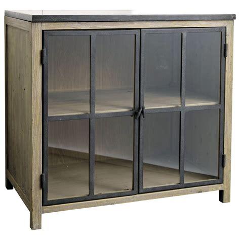 meuble bas vitre de cuisine en bois  pierre   cm copenhague mobilier pinterest meuble