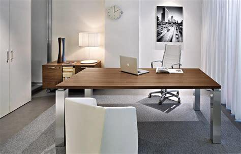 plateau de bureau en verre bureau de direction luxe pieds carrés tao