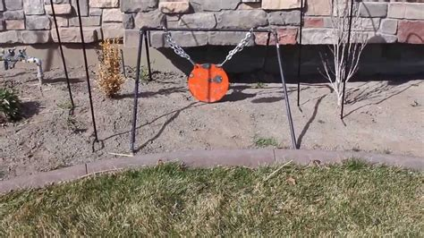 diy collapsible steel target stand   gong youtube