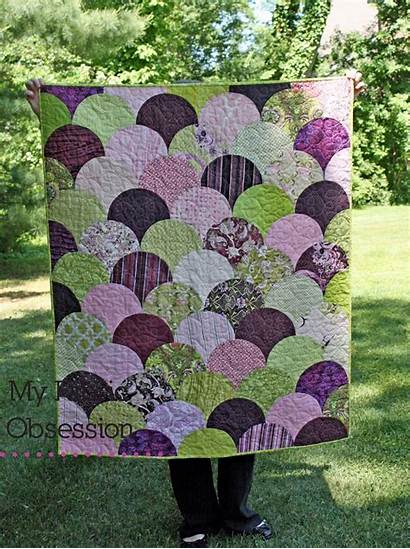 Clamshell Quilt Quilts Fabric Finish Quilting Mermaid