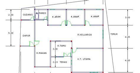 desain rumah pake autocad contoh hu