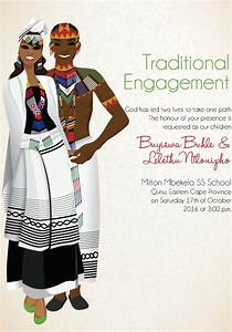 south african xhosa traditional wedding invitation card With xhosa wedding invitations
