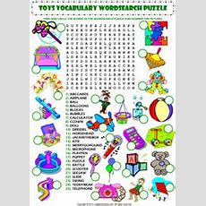 Toys Wordsearch Puzzle Vocabulary Worksheet Icon  Education  Pinterest  Worksheets, Toy And