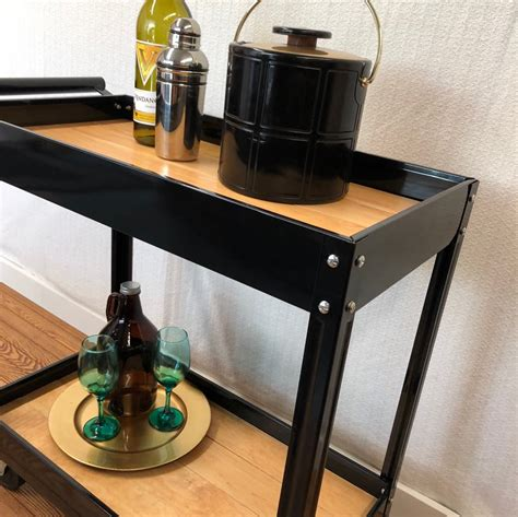 It is an easy project that does not require any specialty tools. Metal & Wood Rolling Bar - Coffee Cart