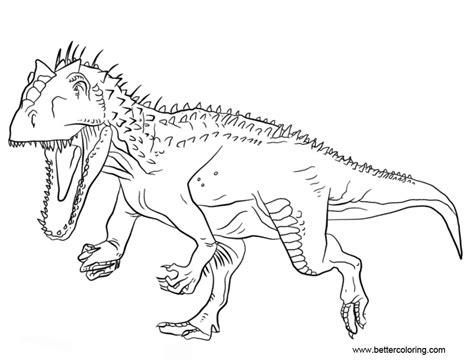 disegni da colorare dinosauri jurassic world jurassic world indominus rex coloring pages free