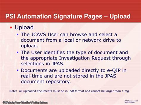 ppt electronic submission of signature pages developed