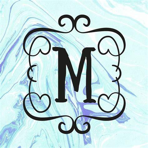 monogram letter  marble monogram letters lettering monogram