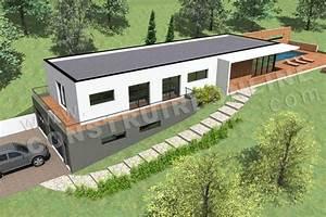 plan maison sur terrain en pente With plan de maison sur terrain en pente