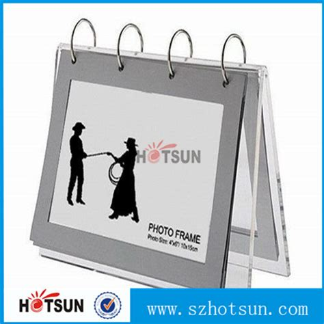 Free Standing Acrylic Desk Calendar With Ring Binder Buy