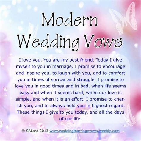 modern wedding marriage vows sample vow examples vows