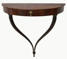 wall mounted entry table demilune wall mounted walnut tooled leather console