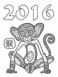 Art Therapy Coloring Page New Year 2016 Chinese New Year 2016 6