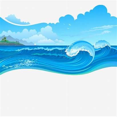 Sea Waves Cartoon Wave Clipart Transparent Ocean