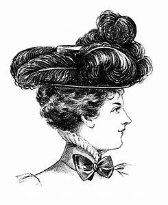 Victorian Ladies' Felt Hat Clip Art | Old Design Shop Blog