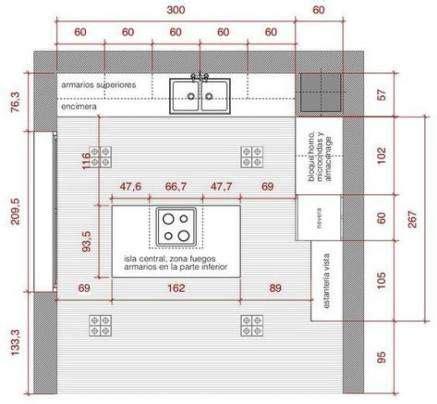kitchen island dimensions layout metric  ideas   kitchen plans house plans   plan