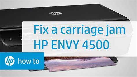 Installation des treibers für ihren hp drucker und der software für windows und mac os x hp envy 4502. Fixing a Carriage Jam - HP Envy 4500 e-All-in-One Printer - YouTube