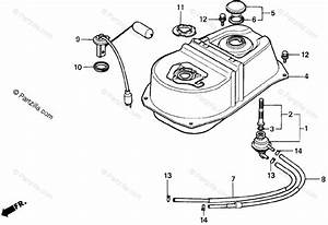 Honda Scooter 2000 Oem Parts Diagram For Fuel Tank