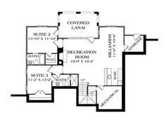 Plan 17650LV: Rugged Craftsman Home for a Sloping Lot