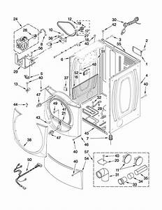 Cabinet Parts Diagram  U0026 Parts List For Model Mgde500vw1