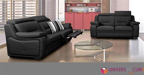 canape cuir electrique 2 places photos canapé 2 places relaxation électrique cuir