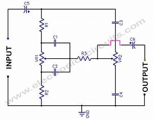 Bass treble tone control circuit electronic circuits for Hi fi tone control with high impedance input circuit schematic diagram