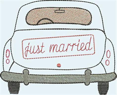 stickdatei  married auto von lieblingstante auf