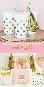 Polka Dot Party Cups Kids Favor Cups Pink and Gold Party