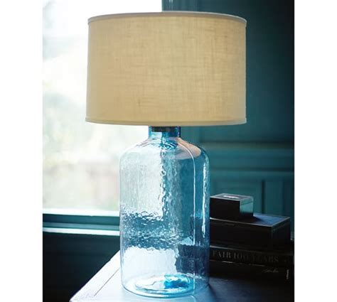 Clift Glass Table Lamp Base   Light Blue   Pottery Barn