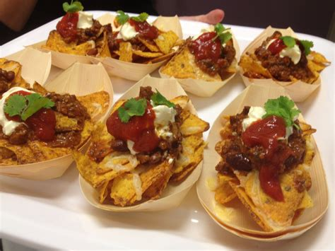 summer canapes canape mini beef nacho bowl canapés