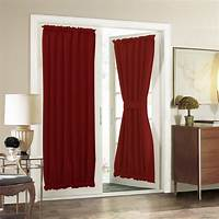 french door curtain panels French Door Curtain Panel for Privacy - Aquazolax Solid ...