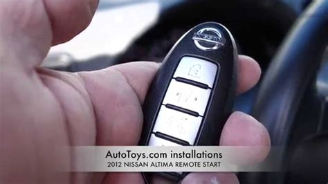 nissan altima  remote start push  start factory