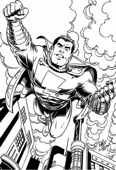 Shazam Coloring Pages Comic Printable Getcoloringpages Colouring