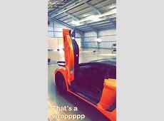 Travis Scott & Kylie Jenner's Matching Lamborghini