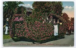 Float Rose Parade New Year's Day Pasadena California 1910c ...