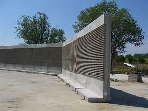 Cloison Jardin Anti Bruit : mur anti bruit autoportant en b ton arm pr fabriqu ~ Edinachiropracticcenter.com Idées de Décoration