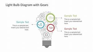 Light Bulb Diagram Gears Powerpoint Shapes